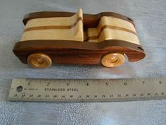 Handmade Wooden Toy Car, 1957 Corvette, Wooden Toy, #odinstoyfactoy #handmade #woodentoy #toys #cars