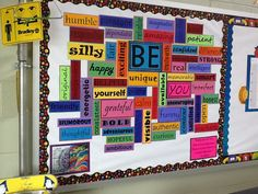 Great idea to have students write these and create the board as a class ... Character Education!