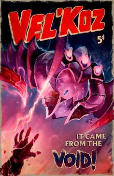 Vel'Koz! Old style movie poster! So cool!