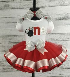 1st BIRTHDAY MINNIE MOUSE Birthday Personalized Name Age Shirt