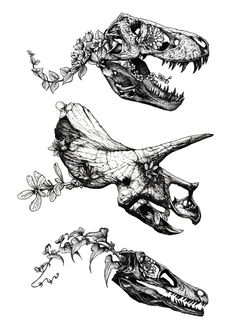 Jurassic Bloom. Art Print by Sinpiggyhead