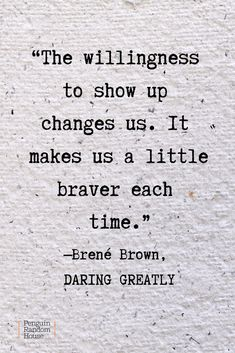 A powerful quote from Brene Brown's book on the power of vulnerability, Daring Greatly. #books #inspiration #booksworthreading