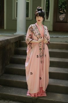 1920s Art Nouveau Turkish Caftan from the set of the HBO series Boardwalk Empire metallic lace detail. This is from the costume department of