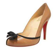 Christian Louboutin Shoes Lavalliere 100 Leather Pumps Tan