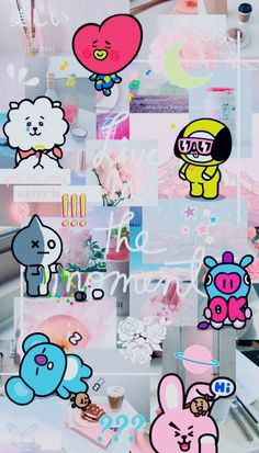 Kawaii Wallpaper, Wallpaper Iphone Cute, Cartoon Wallpaper, Bts Wallpaper, Cute Wallpapers, Foto Bts, Bts Photo, Bts Army Logo, Bts Backgrounds