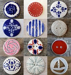 Ceramic Buttons - caro-rose-creations