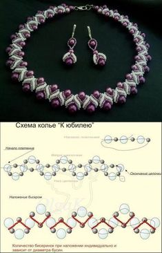 seed bead necklace patterns for beginners Pearl Beads Pattern, Beaded Necklace Patterns, Beaded Bracelets Tutorial, Bracelet Patterns, Beaded Earrings, Beaded Necklaces, Beads Tutorial, Beaded Bead, Necklace Tutorial