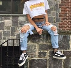Ideas Vintage Outfits Style Hipster For 2019 Edgy Outfits, Mode Outfits, Grunge Outfits, Fashion Outfits, Ootd Fashion, Summer Outfits, Fashion Clothes, Hipster Outfits, Outfits For Concerts