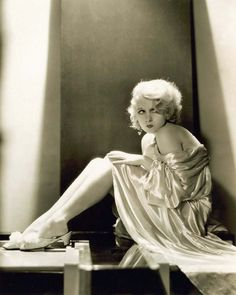 Anita Page in some lovely boudoir slippers.