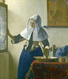 Vermeer Young Woman with Water Pitcher Collotype Fine Art Card or Framed Miniature — Collotype Prints