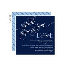 Faith Hope Love Wedding Cards Wedding Paper Divas, Wedding Cards, Photo Wedding Invitations, Faith Hope Love, Shutterfly, Blue Wedding, Blue Yellow, Stationery, Free