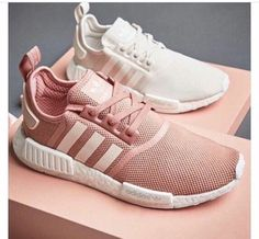 Shoes: adidas, adidas shoes, pink, low top sneakers, white sneakers, nude sneakers, pastel sneakers, pink sneakers, pastel pink, nude, back to school, college, sports shoes - Wheretoget
