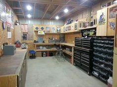 Tool room work in progress basement workshop, home workshop, workshop ideas, workshop lay Garage Workshop Organization, Basement Workshop, Diy Garage Storage, Workshop Storage, Home Workshop, Storage Bins, Tool Storage, Storage Ideas, Workshop Layout