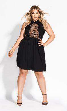 232e1e548a8 Lady Tiffany Dress - black  citychiconline  cclovescurves  style  fashion   ontrend