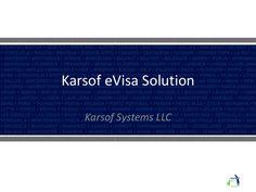 Karsof eVisa Solution Karsof Systems LLC