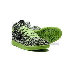 952fec5d86f0 Nike Air Jordan 1 Basketball Shoes High Tops Leopard Green... found on  Polyvore