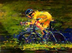 ARTFINDER: Yello Wiggo,Tour de France 2012 by Rob  Ijbema -