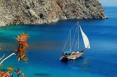 Sailing in Symi Island, beautiful. Turkey Photos, Italy Holidays, Charter Boat, Marmaris, Balearic Islands, Beautiful Islands, Beautiful Places, Sardinia, North Africa