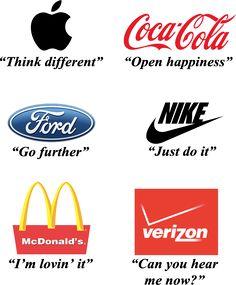 Tagline examples of big companies