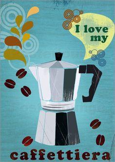 i love my caffettiera   Elisandra ~ It's how Cubans make coffee.