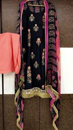 Block print design punjabi suit