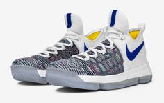11e4d65653b Kevin Durant s Sneakers in Golden State Warriors Colors l Follow us on  Twitter  https