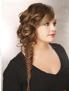 Fish Tail Braid and Waves - Side View