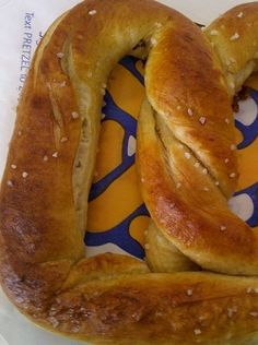 Aunt Annies Soft Pretzels. I substituted the regular flour with whole wheat and they were still awesome.