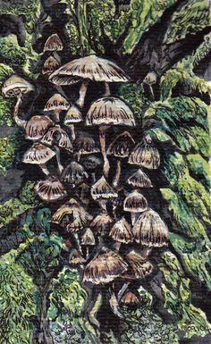 My Books, Sculptures, Wildlife, Felt, Fantasy, Ink Painting, Mushrooms, Artwork, Etsy