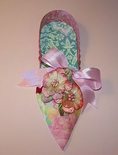 Nostalgic Collage': Elegant Marie Antoinette Paper Shoe (other view) by Kris Dickinson, Nostalgic Collage'
