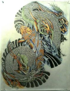 koi and dragon tattoo - Buscar con Google