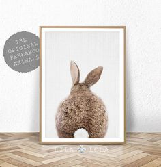 Kwekerij Decor konijn afdrukken, afdrukbare Wall Art, Bunny staart Poster, digitale Download, kwekerij dier wordt afgedrukt, konijn staart Wall Art Decor