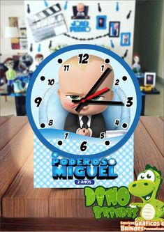 af48eee6fb8 Centro de Mesa Relógio Poderoso Chefinho no Elo7