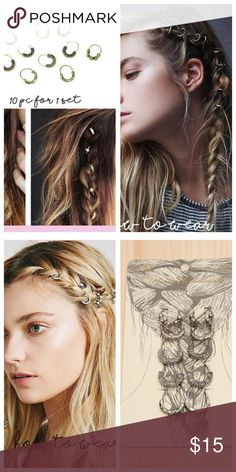 GOLD HAIR RINGS HOTTEST TREND RIGHT NOW GOLD HAIR RINGS HOTTEST TREND RIGHT NOW, how cute are this, in ponytails, braids, sold in the boutique, find link in the about me Accessories Hair Accessories