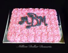 Rosette Sheet Cake ~ Million Dollar Desserts
