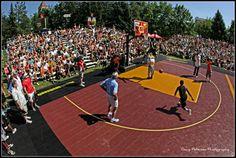 Nike Center Court Hoopfest 2013 Big dunk over mascot
