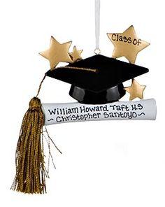 Buy Graduate Hat And Tassel - Graduation Ornaments, Graduation Christmas Ornaments at the Ornament Shop. Over 4500+ items.