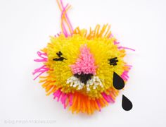 DIY Animal Pompoms - Tutorial   Mr Printables