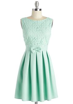 Croquet Match Cutie Dress. Wicket for wicket, its been a memorable backyard game with your bestie - but, win or lose, you know you still score points for style in this mint-green sundress. #mint #modcloth
