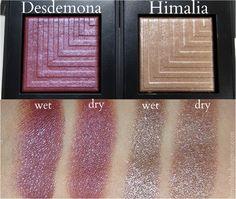 Swatches: NARS Desdemona Himalia Dual-Intensity Eyeshadows via Beauty Makeup, Eye Makeup, Hair Makeup, Makeup Stuff, Beauty Stuff, Makeup Ideas, Glitter Eyeshadow, Eyeshadow Palette, Nars Dual Intensity Eyeshadow