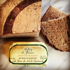 @globalgirlcanada Poilâne Everything in #France just tastes better. This is the amazing bread from #Poilane and butter avec la Fleur de sel ! #Paris