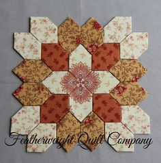 Lucy Boston Patchwork of the Crosses Block kit # 65 by FeatherweightQuiltCo on Etsy (null)