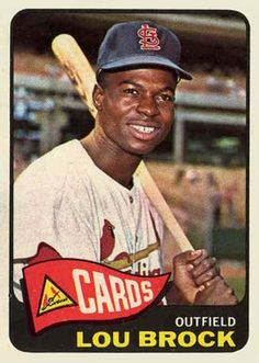 1965 Topps Lou Brock Baseball Card for sale online St Louis Baseball, St Louis Cardinals Baseball, Stl Cardinals, Baseball Fight, Baseball Star, Baseball Wall, Baseball Quotes, Baseball Card Values, Baseball Cards For Sale