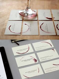 Business card design for a sommelier.. Genius!