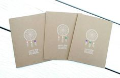 Dreamcatcher Card- Dream Catcher Greeting Card-Follow Your Dreams- Handmade Card by Lemon Drops & Lilacs on Etsy.com