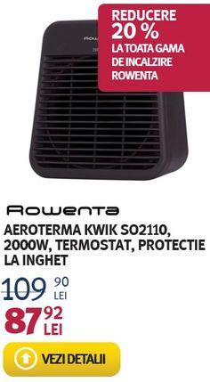 Promotie Aeroterma ROWENTA KWIK SO2110 de 2000W