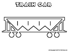 Free Coloring Pages Caboose