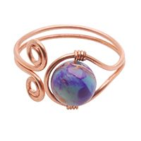 Wire-wrapped adjustable ring but could also do as bracelet