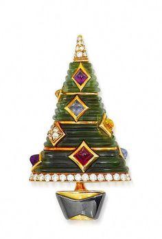 Twelve Days Of Christmas, Vintage Christmas, Christmas Holidays, Tacky Christmas, Christmas Glitter, Jeweled Christmas Trees, Xmas Tree, Holiday Tree, Jewelry Tree