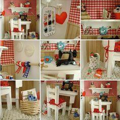 a very tiny craft room